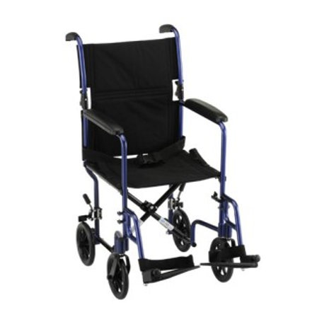 "Nova 319 Blue Steel 19"" Transport Chair"