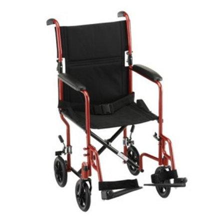 "Nova 319R Steel 19""Transport Chair  ""Red Color"""
