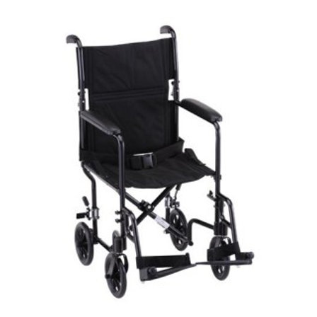 "Nova 319 Black Steel 19"" Transport Chair"