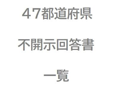47都道府県 新型コロナウイルスについての不開示回答書