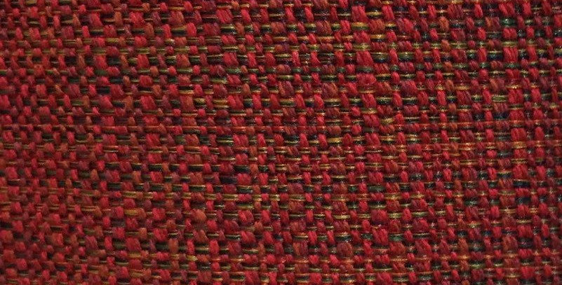 Red Tweed - Woven Fabric - Traditional