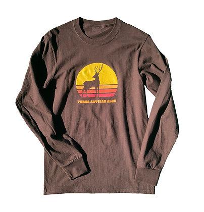 Brown Long Sleeved Deer Shirt