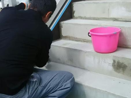 鉄骨外階段防水工事