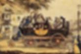 The first locomotives for trnsportation