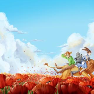 Wizard of Oz - Poppy field