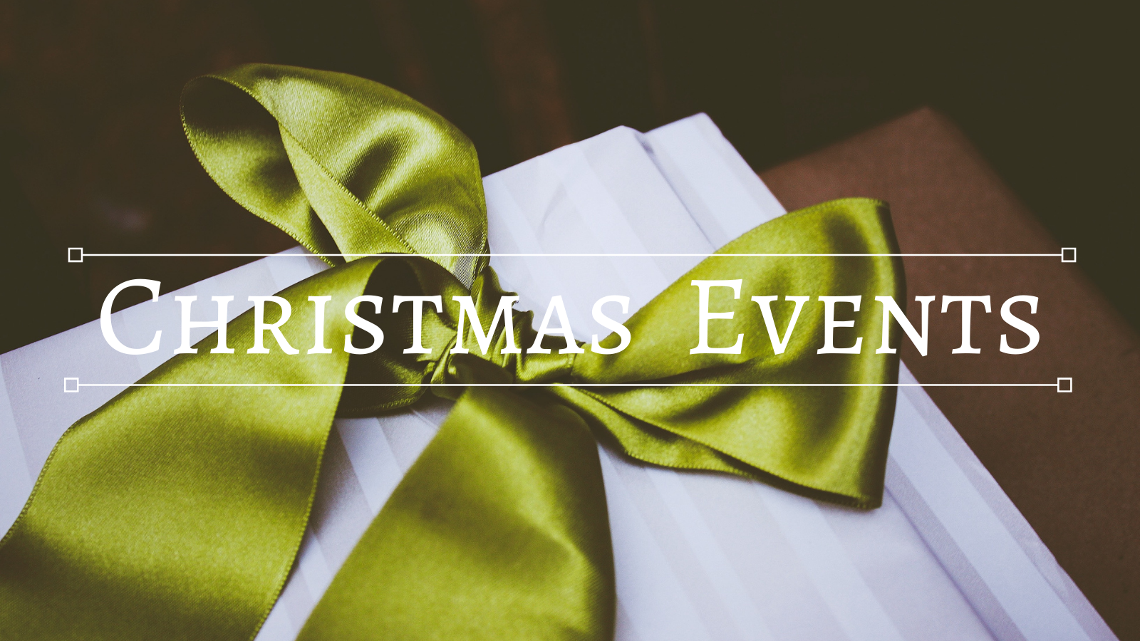 Website Christmas events banner