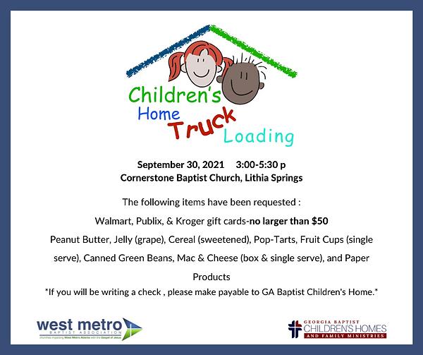 2021 FB Children's Home Truck Loading -F