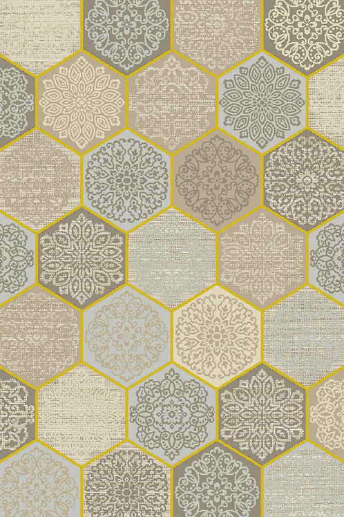 Flow Beige Yellow Rug