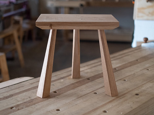 Raw Oak Milking Stool