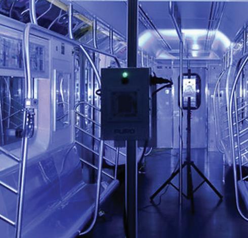 UV disinfection in public transporation.