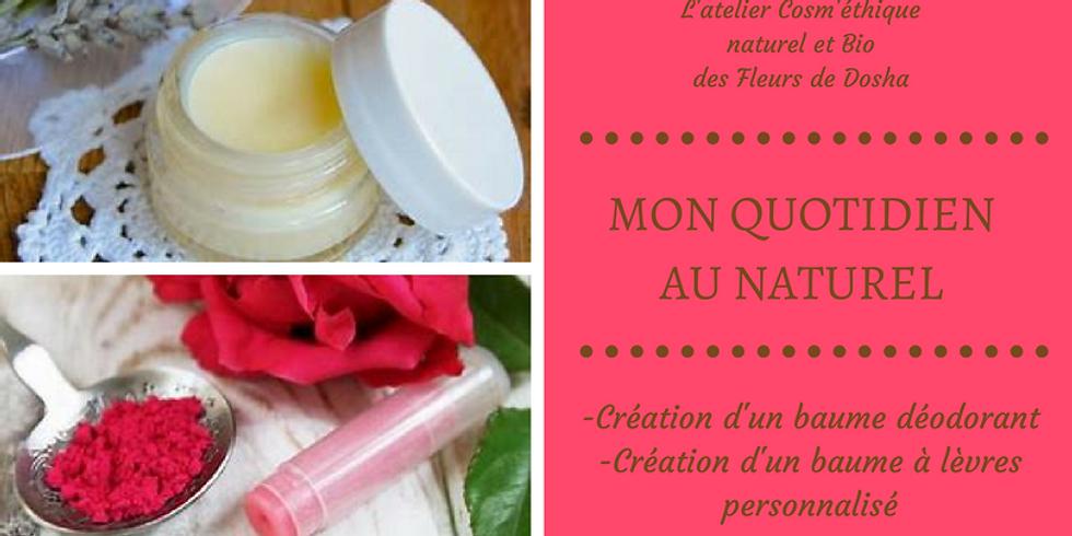 #atelier cosmétique DIY, déodorant et baume à lèvres