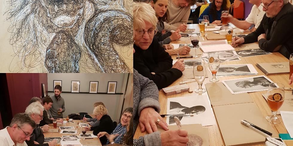 #atelier dessin avec François Mervaillie