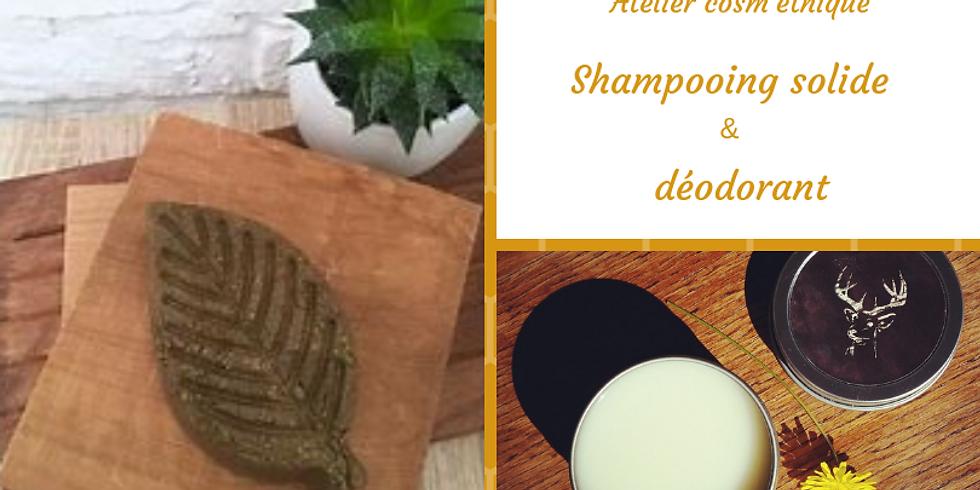 #atelier cosmétique DIY, déo et shampoing solide