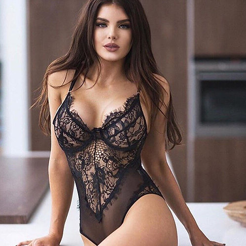 Lingerie Lace See-Through Sexy Babydoll Bodysuit