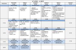 Agenda 6º Ano A - Mês de Junho