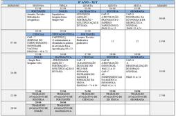 Agenda 8º Ano - Mês de Junho