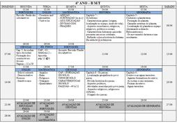 Agenda 6º Ano B - Mês de Junho
