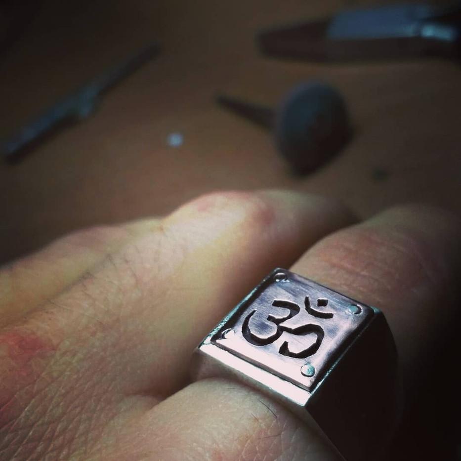 Ceremonial Om Ring