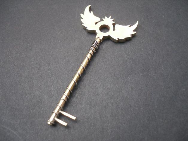 Winged Silver Key