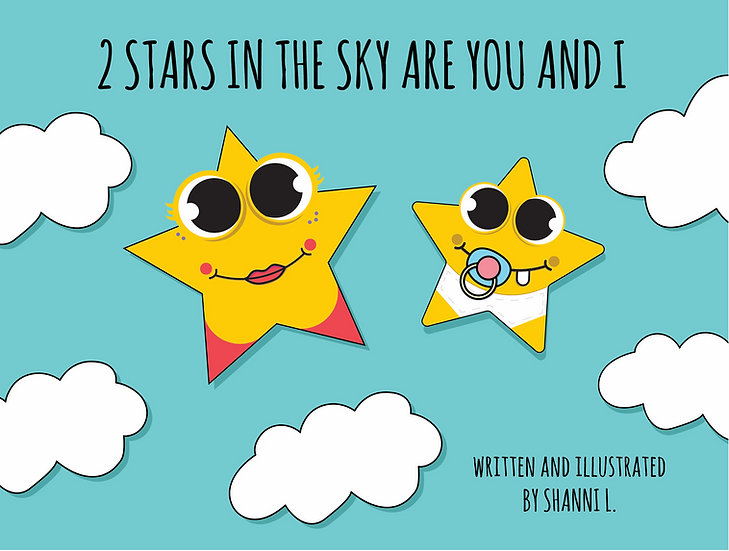 2 Stars in the Sky are You and I, Customized Board Book