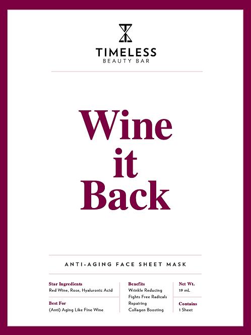 Wine it Back Face Sheet Mask