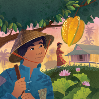 Cover from 'The Brothers and the Star Fruit Tree: A Tale from Vietnam', digital