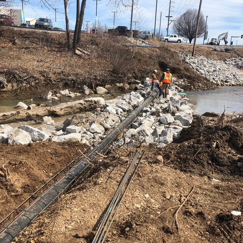 Villa Heights Sanitary Sewer & Bank Stabilization
