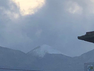 First sign of Snow on the White mountains of Crete it is after all December!