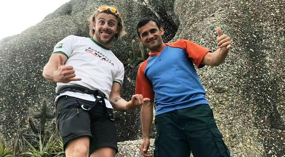 Após a pratica de escalada em rocha!