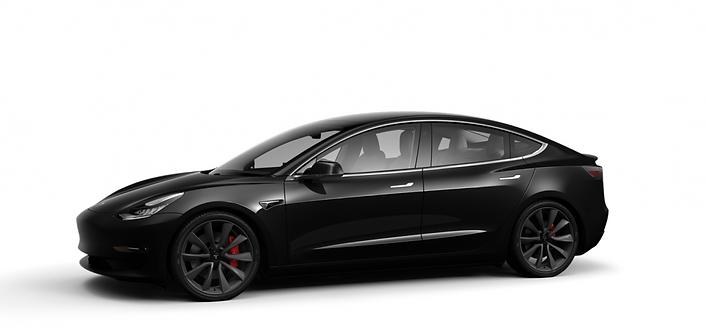 Tesla Model 3 Performance Range 4% of 8% bijtelling