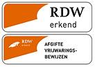 RDW erkend - Vrijwarkingsbewijzen logo.png