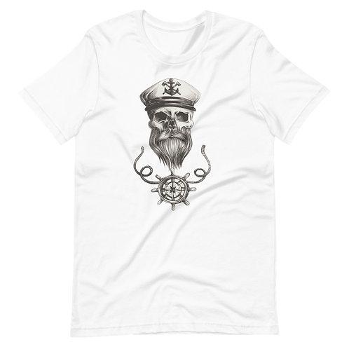 nautical skull shirt/ bearded skull/ captain skull shirt/bearded skull /skull