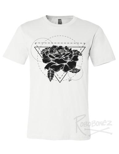 Black Rose Geometric tshirt