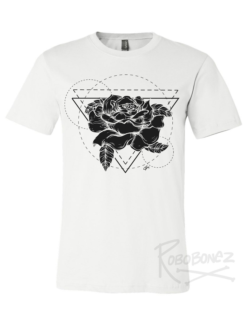 Black Rose Geometric tshirt