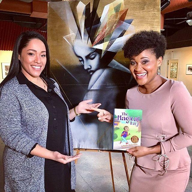 Jasmine Mills and NBC 12 News Karla Redditte
