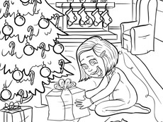 December- Free Christmas coloring page by Artistjazz