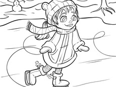 Happy New Year! Coloring page for January!