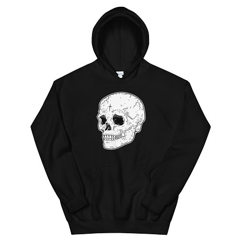 Skull hoodie/ Skull pullover/ goth clothing/ skull with cross goth aesthetic