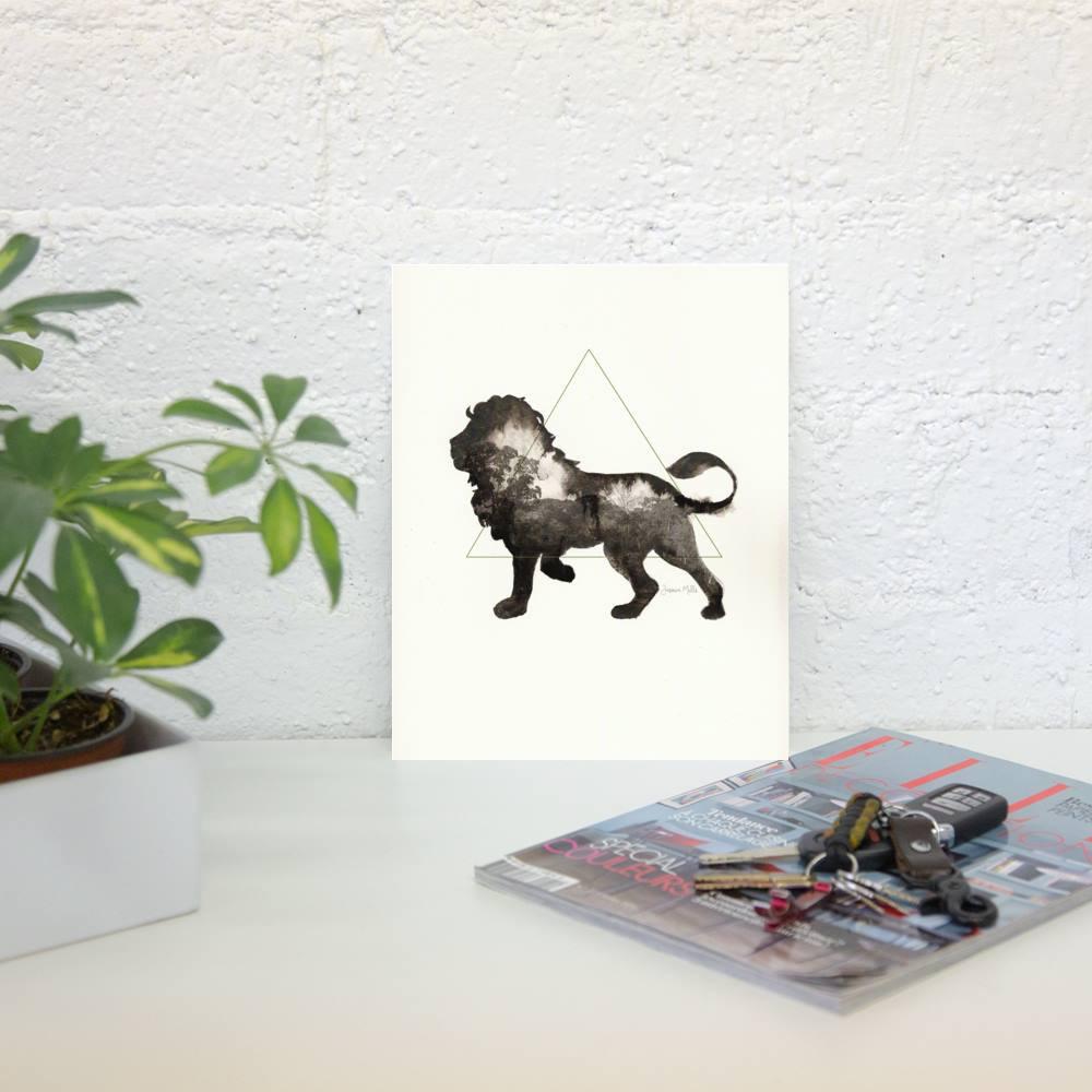Watercolor Lion (leo)