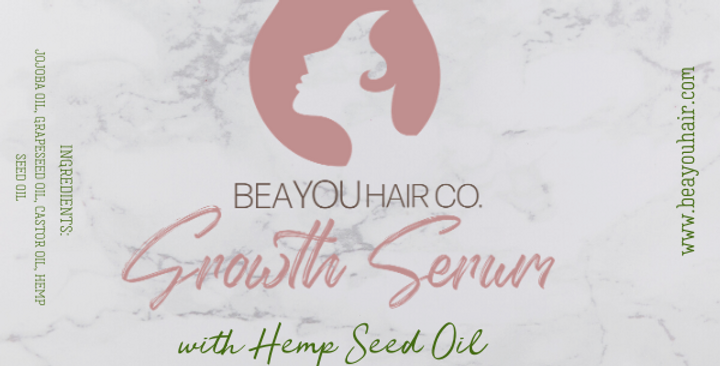 Hair Growth Serum with Hemp Seed Oil