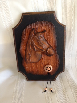 #425-Horse head with copper