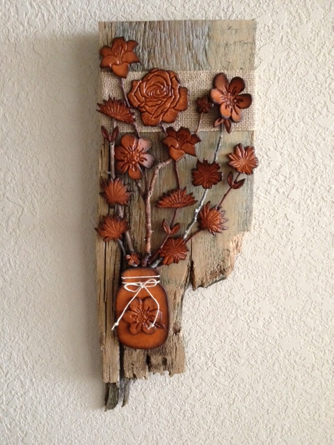 #460-Barnwood with flowers