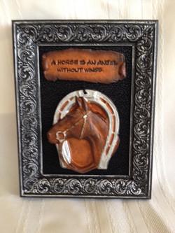 #439-Horseshoe with Horse