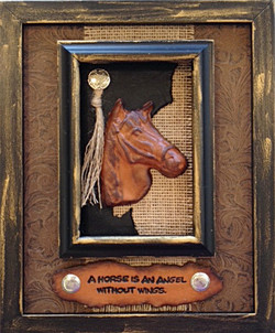 474-Horse is angle w double frame