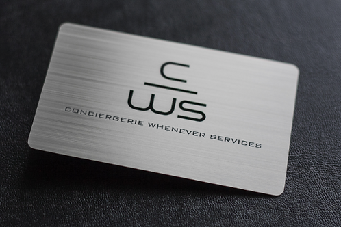 HD Aluminum Rounded Business Cards