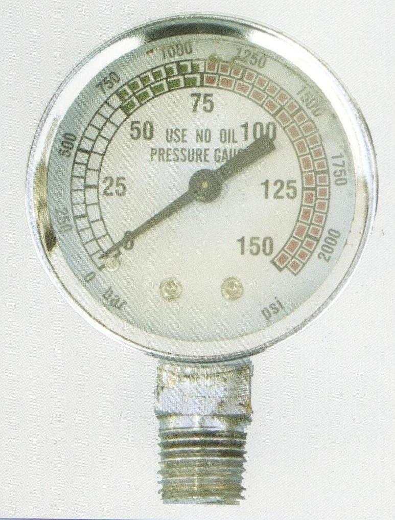 """מד לחץ 0-150 בר הברגה """"1/4"""