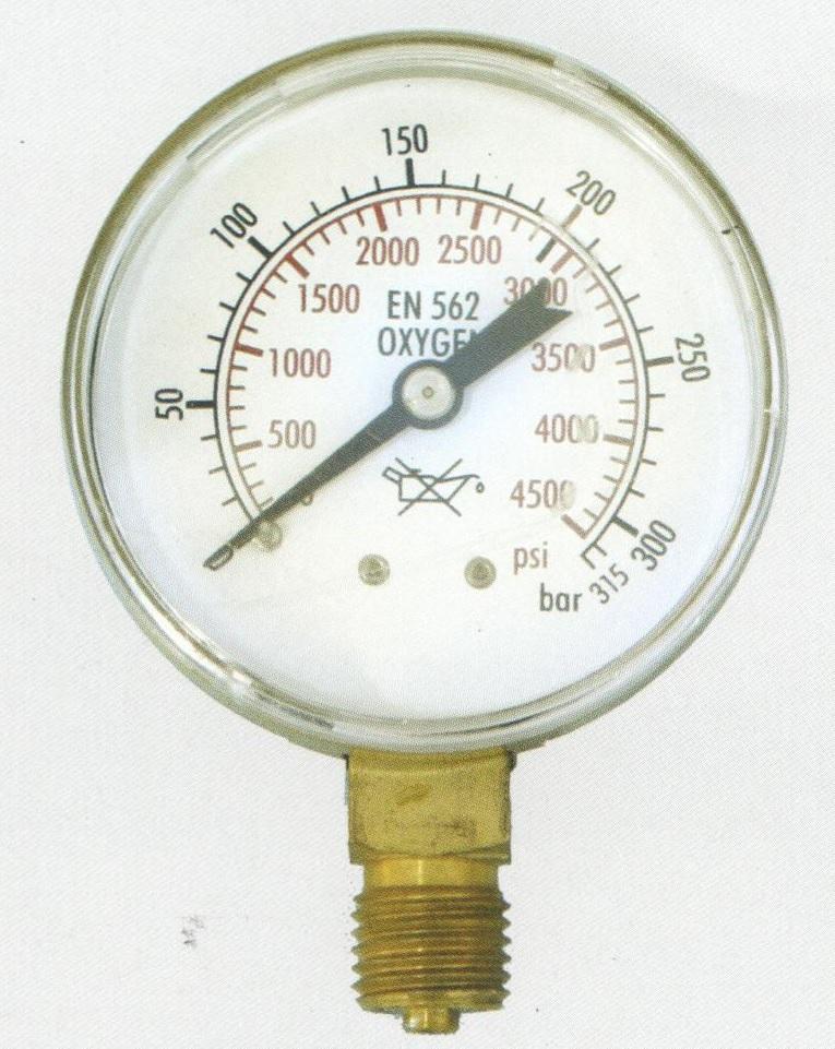 """מד לחץ גבוה 0-316 בר הברגה """"1/4"""
