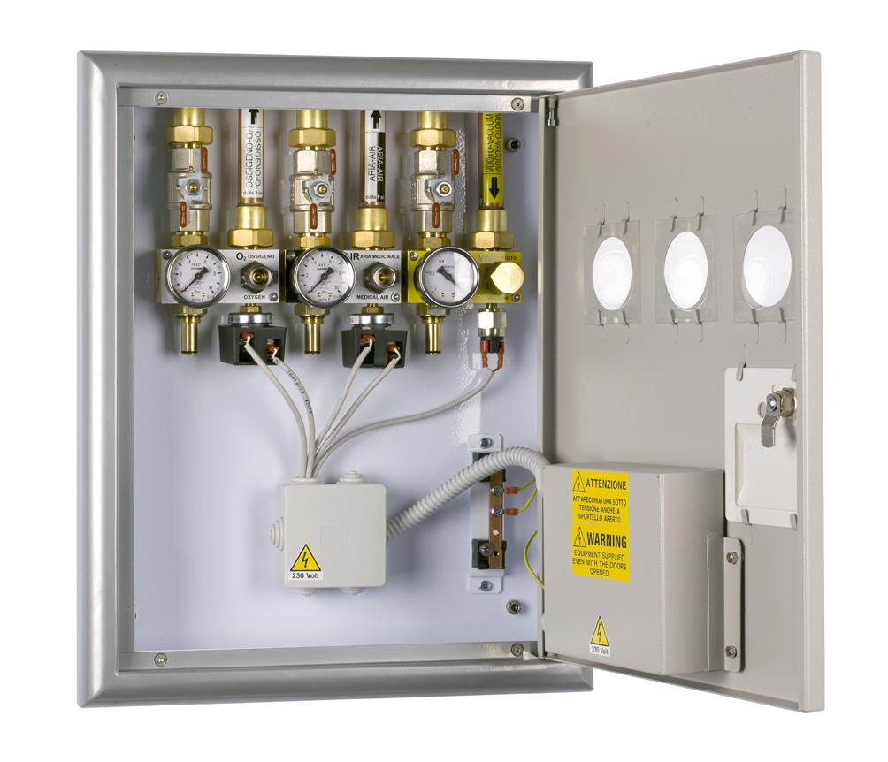 מערכת גז -ארון /  לוח ברזים והתראה