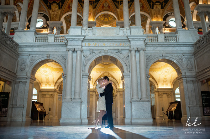 Raluca + Dave Library of Congress Wedding  I  Kimberly Lyddane Photography