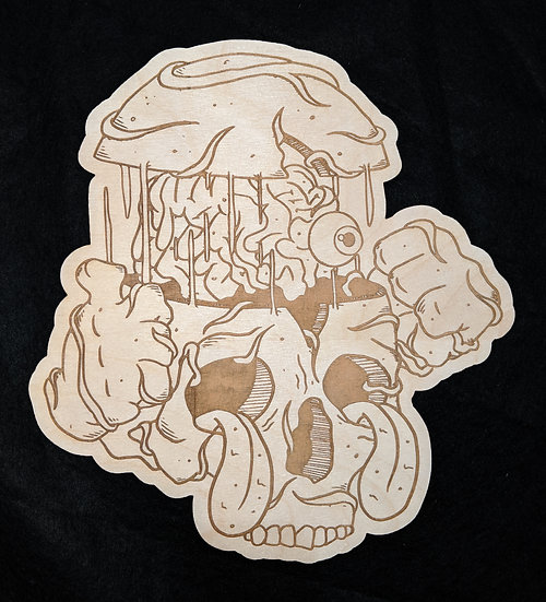 All In Your Head Wood Print